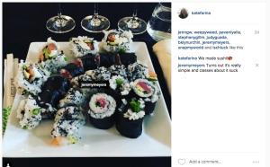 Sushi class output